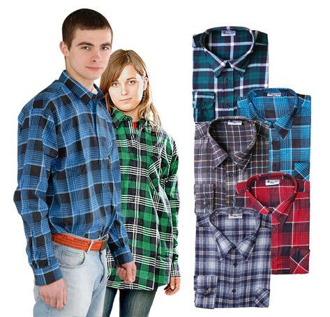Koszula robocza flanelowa w kratę