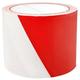 Taśma ostrzegawcza biało czerwona 8 cm