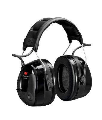 3M PELTOR ProTac III Headset, Black, 32 dB, Headband, MT13H221A