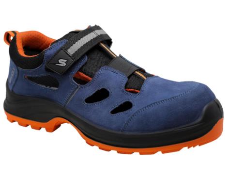Sandały robocze STAR-X 30 S1P blue welur SWOLX