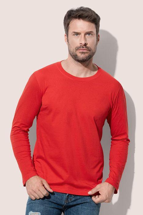 Koszulka robocza t-shirt ST2500 z długim rękawem STEDMAN czerwona