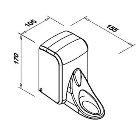 Dozownik łokciowy do mydła 500ML FUNECO SA500PGWG wymiary