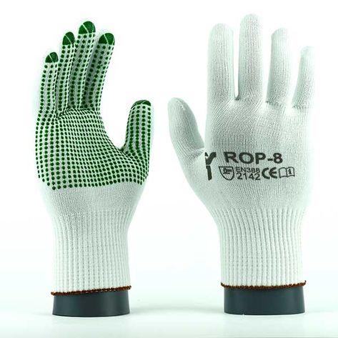 Rękawice robocze JS Gloves Poliamidowe ROPV