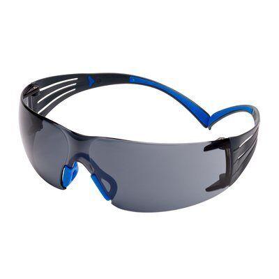3M Okulary ochronne SecureFit 400 z powłoką Scotchgard, szare soczewki, SF402SGAF-BLU EU