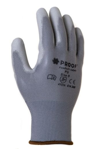 Rękawice robocze Proof szare powlekane poliuretanem