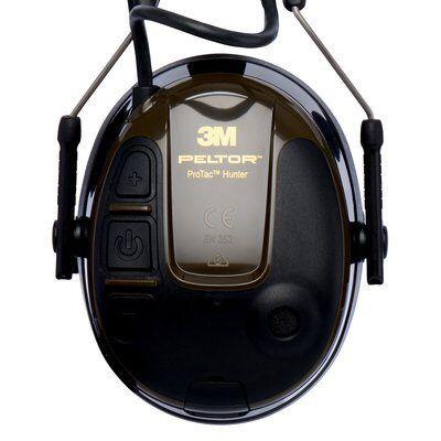 3M PELTOR ProTac Hunter Headset, 26 dB, Green, Headband, MT13H222A-1
