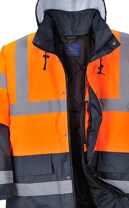 Ocieplana kurtka Ostrzegawcza S467 wodoodporna - pomarańczowa PORTWEST