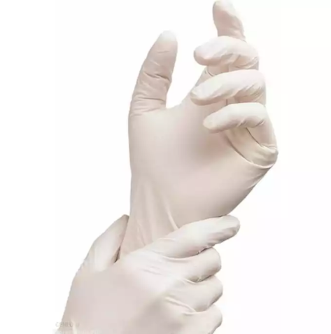 Rękawice lateksowe pudrowane Delicato 100 szt SILBET