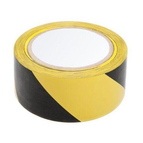 Taśma żółto - czarna samoprzylepna 5cmx33
