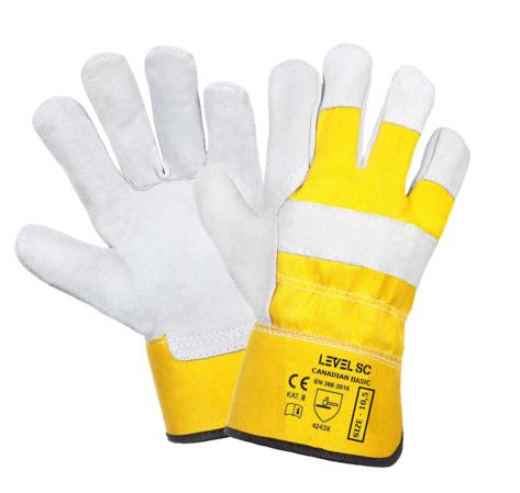 Rękawice robocze wzmacniane skórą CANADIAN ECO