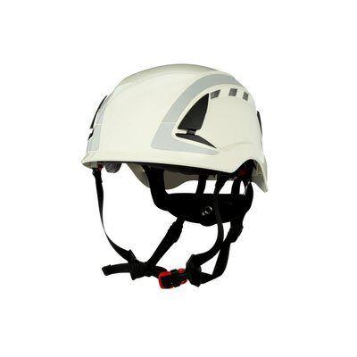 3M SecureFit Hełm ochronny, biały, z wentylacją, z odblaskami, X5001V-CE